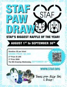 2020 STAF Paw Draw Poster